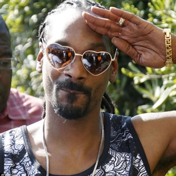 cff2f5061b Snoop Dogg Inspired Heart Shaped Sunglasses